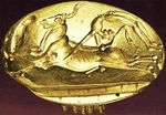 Bull-leaping Gold Minoan Signet Ring by Elizabeth P. Bermudes