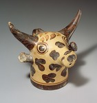 Terracotta Vase in the Form of a Bull's Head by Elizabeth P. Bermudes