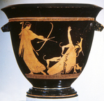 Attic Red-figure Bell Krater; Death of Aktaion by Sabine Schmalbeck