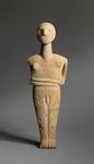 Marble male figure by Celia H. Romani
