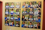 Students display QR codes of thank you speeches by EDU-265: International Perspectives on Public Education