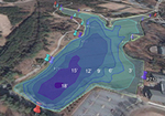 Furman Lake Bathymetry Map