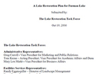 A Lake Restoration Plan for Furman Lake by Lake Restoration Task Force, Wade Worthen, and Wes Dripps