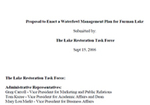 Waterfowl Management Plan by Lake Restoration Task Force, Wade Worthen, and Wes Dripps