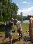 Groundwater monitoring well by Wes Dripps