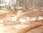 Rain garden construction by Wade Worthen
