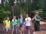 Rain garden construction by Wade Worthen