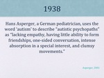 History of Autism Slide 03 by Kieran Cook and Alissa Willmerdinger