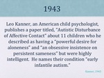 History of Autism Slide 04 by Kieran Cook and Alissa Willmerdinger