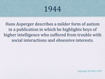 History of Autism Slide 05 by Kieran Cook and Alissa Willmerdinger