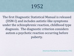 History of Autism Slide 08 by Kieran Cook and Alissa Willmerdinger