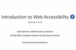 Tutorial 1: Introduction to Web Accessibility by Scott Salzman and Christy Allen
